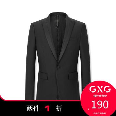 【兩件1折:190】秋季男款時尚商務經典修身西裝(上裝)
