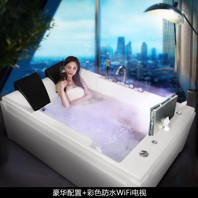 尚雷仕雙人浴缸 家用恒溫加熱成人超大沖浪按摩浴缸情侶智能浴盆