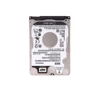西部数据(WD) 500G硬盘西数笔记本电脑机械盘 黑盘7.2毫米超薄硬盘500GB 拆机版 硬盘转速5400