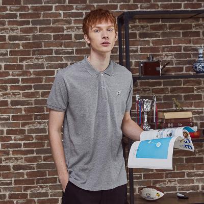 【1件3折价:65.7】美特斯邦威短袖T恤男夏季简约撞色字母领Polo衫
