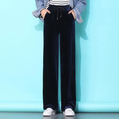 歐樂鑫休閑褲女2020新款春季闊腿墜感高腰寬松顯瘦直筒褲運動休閑長褲子