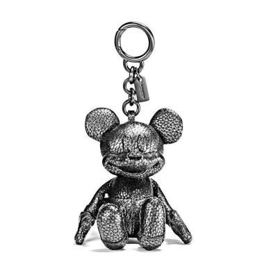 Disney x Coach 蔻馳 聯名限量版 59150 米奇全皮公仔匙扣包包掛飾 吊牌吊墜牛皮 箱包配件