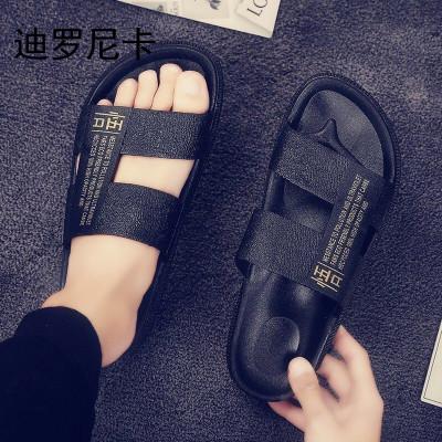 迪羅尼卡拖鞋男士2019新款夏季室外沙灘涼鞋男鞋韓版潮流個性時尚外穿涼拖