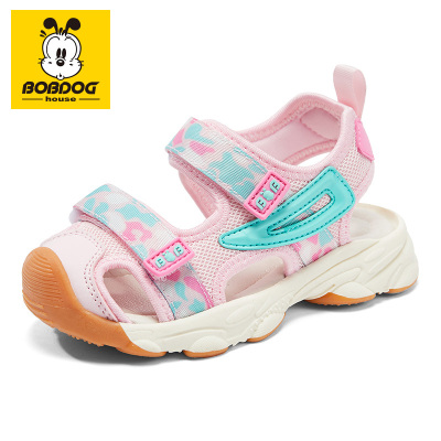BOBDOG HOUSE巴布豆童鞋軟底寶寶涼鞋2020新款童鞋夏季男童女童透氣網紅沙灘鞋8658