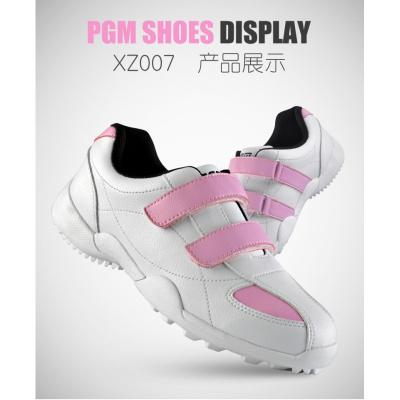 儿童高尔夫球鞋 女童运动鞋 魔术贴设计鞋子