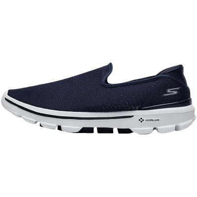 【自營】SKECHERS斯凱奇男鞋健步鞋運動鞋一腳蹬54062/N VW 54062/NVW海軍藍色+白色