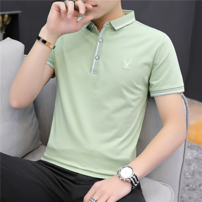 墨爾斯特(MO ER SI TE)2020新款夏季潮流男裝襯衫領POLO衫韓版短袖體恤男翻領半袖T133