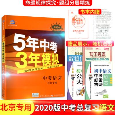 曲一线新版2020版53模拟五年中考三年模拟中考语文北京专用BJ中考总复习专项突破初中初一二三