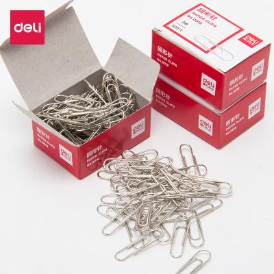 10盒裝得力deli0018回形針電鍍金屬曲別針裝訂盒裝辦公文具用品批發3號29mm100枚/盒