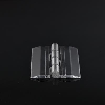 亞克力透明合頁鉸鏈柜門活頁pc合葉有機玻璃折頁加工打孔 長25*寬33mm
