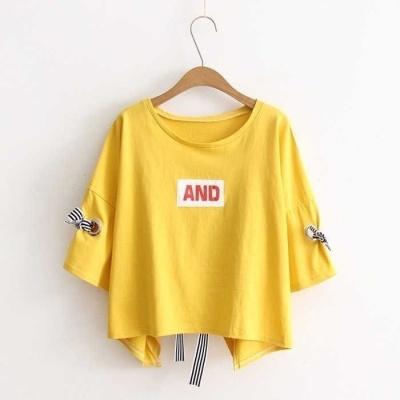2020新款上衣服短袖T恤女韓版夏季圓領寬松百搭女學生體恤衫莎丞(SHACHEN)