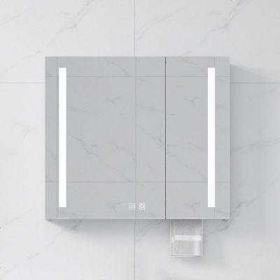 智能太空鋁鏡柜洗手間浴室鏡子梳妝儲物壁掛鏡箱置物架廁所掛墻式