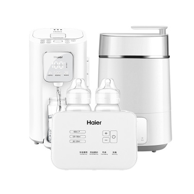 海爾高端母嬰電器套餐(恒溫調奶器F25+奶瓶消毒器H01+雙瓶暖奶器D02)