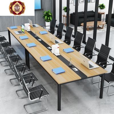 三維工匠特價會議桌簡約長桌長條電腦現代職員辦公桌培訓洽談老板書桌