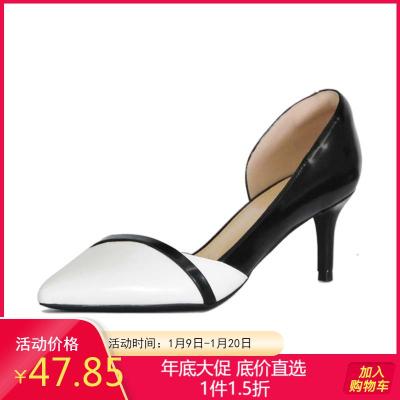 Daphne/达芙妮春季尖头浅口细高跟单鞋优雅性感女鞋子1018102060