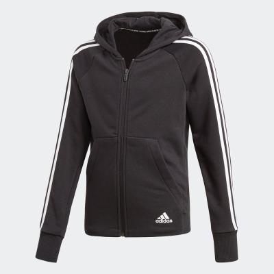 Adidas阿迪達斯外套童裝2020春季新款連帽防風保暖運動夾克DV0316