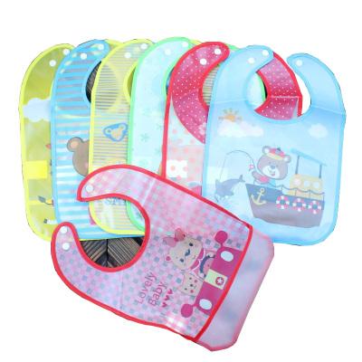 【2個裝】寶寶吃飯圍兜防水軟塑料嬰兒食飯兜小孩喂飯嬰幼兒口水兜兒童圍嘴