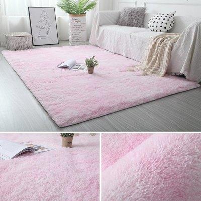 簡約長毛絨客廳茶幾地墊家用臥室房間滿鋪床邊毯 拍照婚慶地毯