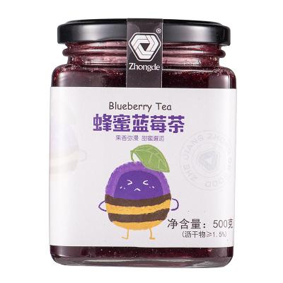 众德蜂蜜蓝莓茶500g 冬季泡水喝的饮品 冲饮冲泡花果茶水果茶