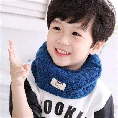 迪鲁奥(DILUAO)宝宝围巾秋冬季韩版儿童套头女孩可爱保暖毛线脖套韩国男女童围脖