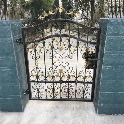 欧式铁艺大庭院花园别墅乡村对开入户双开户外防盗铁艺