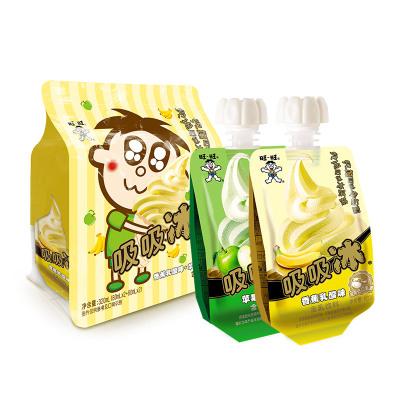 旺旺 吸吸冰综合包 (香蕉味+苹果味) 80g*4