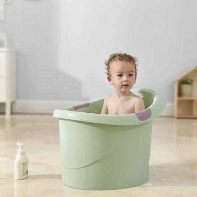 babycare寶寶洗澡桶 嬰兒大號加厚保溫浴盆可坐浴兒童泡澡沐浴桶 抹茶3805