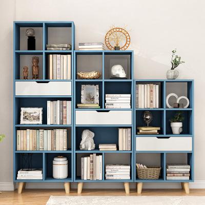 眾淘家居北歐書柜置物架書架簡約現代兒童簡易書架落地臥室創意組合小書柜