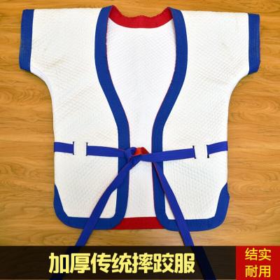 因樂思(YINLESI)自由傳統式摔跤服中式摔跤衣加厚中國式褡褳跤衣紅藍白雙面穿跤服 褲子13號(身高130-140cm
