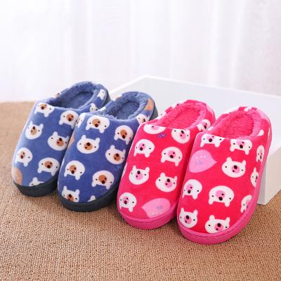 儿童棉拖鞋秋冬男童宝宝卡通软底室内棉拖女童防滑保暖中小童棉鞋