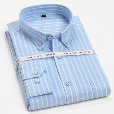 美特邦杰2020夏季新款純棉男士長袖襯衫中青年2020輕薄款新款商務休閑免燙長袖襯衣男