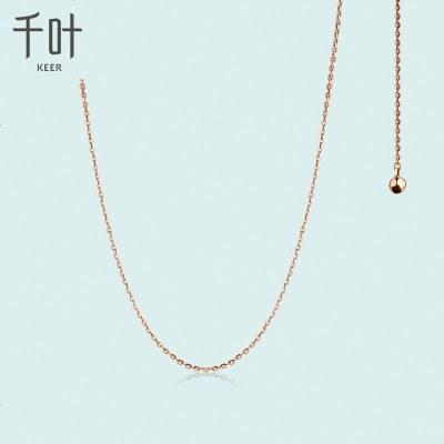 千葉珠寶首飾項鏈彩金項鏈白金項鏈鎖骨鏈玫瑰金18K金掛戀 禮物