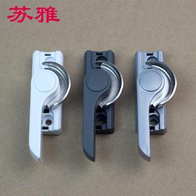 窗锁平移窗锁铝合金塑钢窗月牙锁推拉窗户锁扣移配件