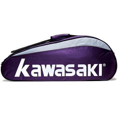 川崎(KAWASAKI) 羽毛球包3支装拍套球拍套包6支装单肩背包男女