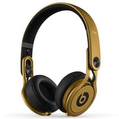 【二手95新】Beats Mixr 头戴式耳机 音乐耳机 有线版 黑金色 95新