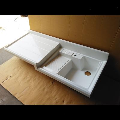 阳台洗衣池台盆槽带搓衣板一体石英石台面藤印象滚筒洗衣机阳台柜定制 1.2米(左右)放洗衣机