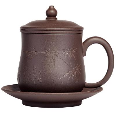 宜興紫砂杯茶杯子帶蓋陶瓷主人杯單杯功夫手工茶玩帶過濾泡茶杯