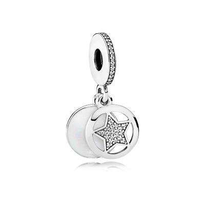 PANDORA潘多拉 友誼之星 925銀琺瑯串珠吊飾