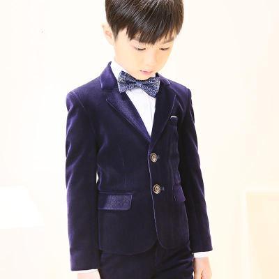 新品热卖男童西装套装加厚儿童礼服花童小男孩西服主持人钢琴演出服秋冬季潮款