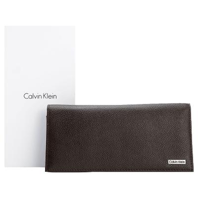 卡尔文·克莱恩Calvin Klein男士钱包男士真皮CK钱包商务长款钱夹皮夹礼盒