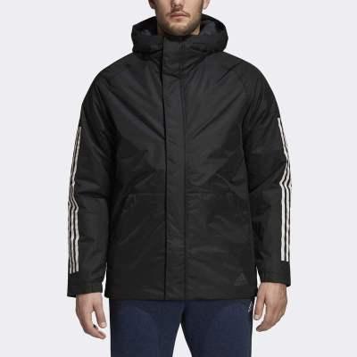 阿迪達斯(adidas)冬季男士休閑連帽運動棉服外套 CY8624