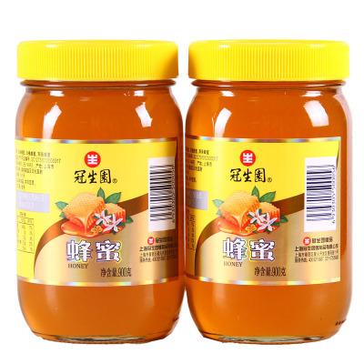 冠生園蜂蜜百花蜂蜜900gx2瓶裝(組合裝玻璃瓶液態蜜上海特產)油菜洋槐荊條混合百花蜜