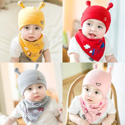 婴儿帽子智扣宝宝帽子新生儿帽子春秋婴幼儿套头帽男女童护头胎帽童帽