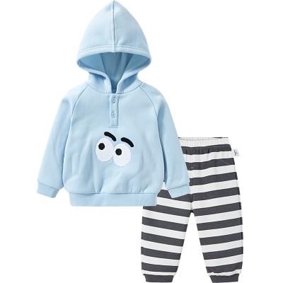 【1件5折】巴拉巴拉童装帅宝宝洋气套装男婴儿周岁衣服长袖两件套保暖加绒潮