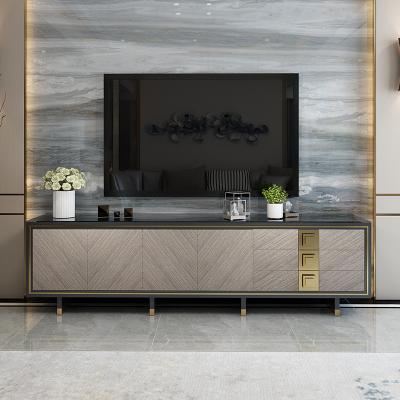 唐臻美式輕奢后現代電視柜現代簡約小戶型烤漆鋼化玻璃茶幾電視柜組合 1.8米電視柜 整裝