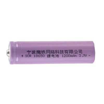 魔铁 18650锂电池 LED强光手电筒电池可充电3.7/4.2V高亮电池 1200毫安 单节
