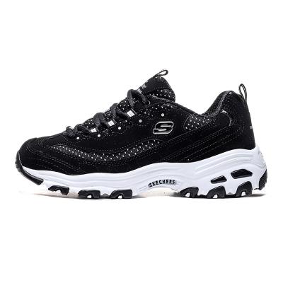 斯凯奇 Skechers D'LITES系列 熊猫鞋 女子休闲鞋 13142-BKW