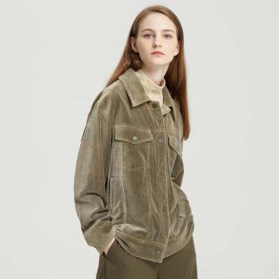 【1件3折價:178.5】MECITY女裝氣質chic絲絨夾克