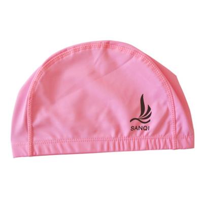三奇新款PU寬松透氣男女款游泳帽 長發防水大號溫泉用品游泳裝備