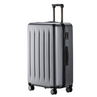 90分旅行箱 静音万向轮行李箱大容量密码箱 纯PC拉杆箱男女旅行箱 星空灰 24寸